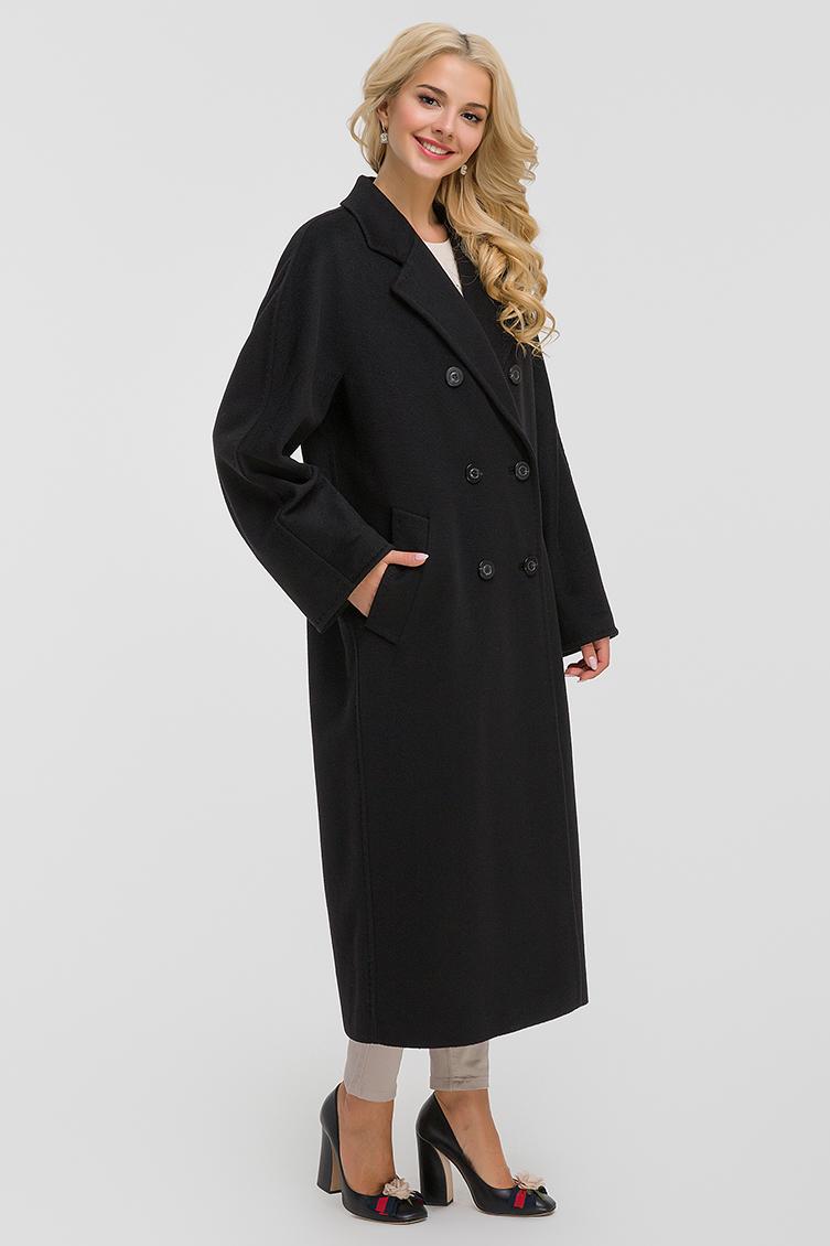 Двубортное осеннее шерстяное пальто с английским воротником, Elisabetta