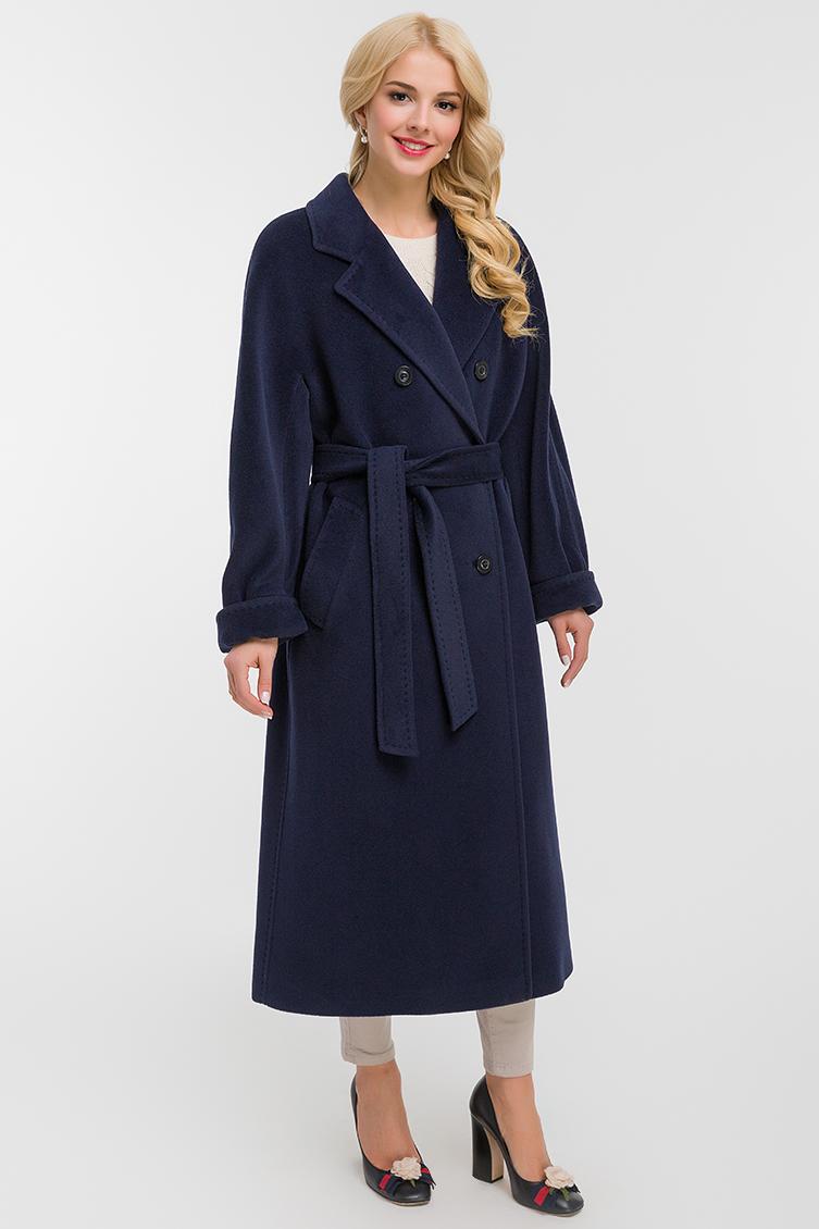 Длинное женское двубортное пальто оверсайз, Elisabetta