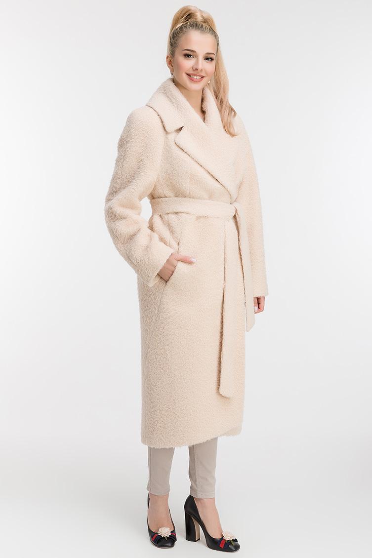 Пальто из альпака в классическом стиле фото