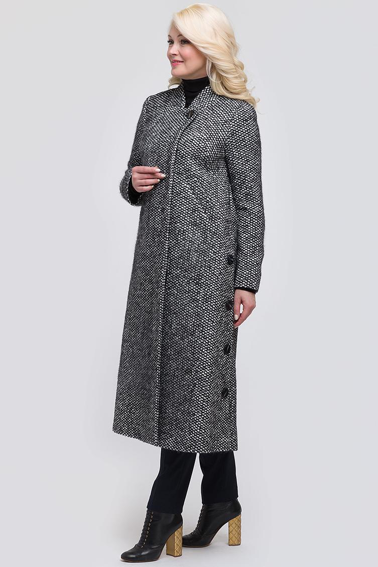 Женское пальто из твида А-силуэта фото