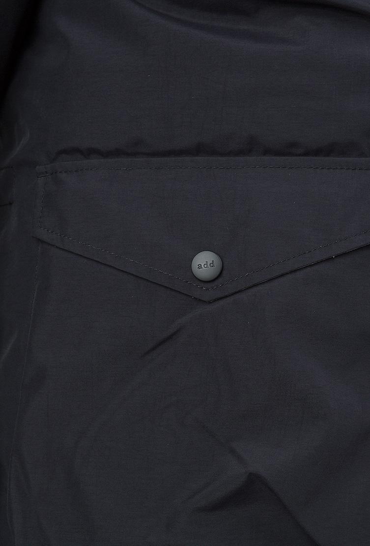 Теплый мужской пуховик ADD с синей жилеткой