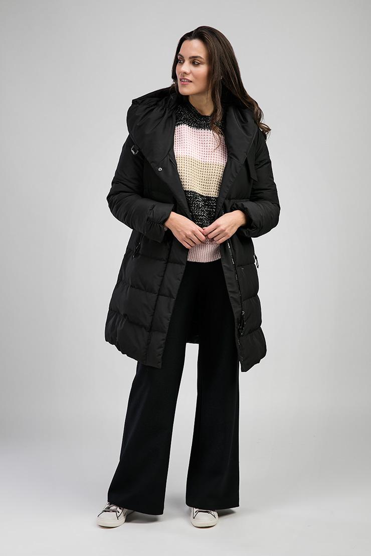 Черный приталенный женский пуховик Joutsen ERICA/PE1-черный