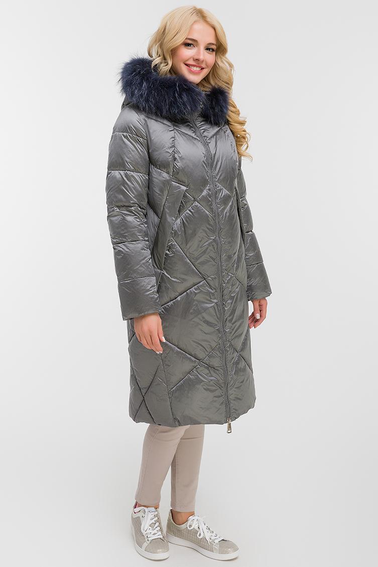 Женское пальто осень-зима прямого силуэта фото