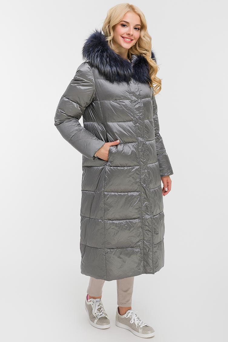 Длинное женское пальто осень-зима с капюшоном фото