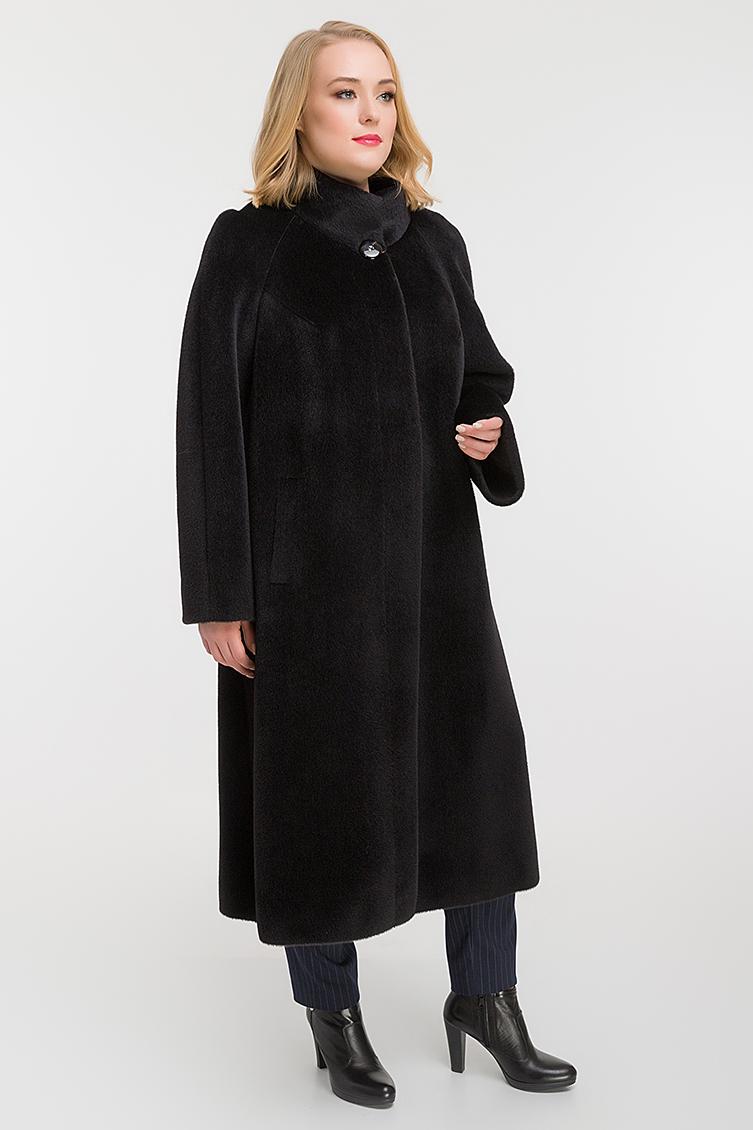 Стильное длинное пальто для больших размеров фото
