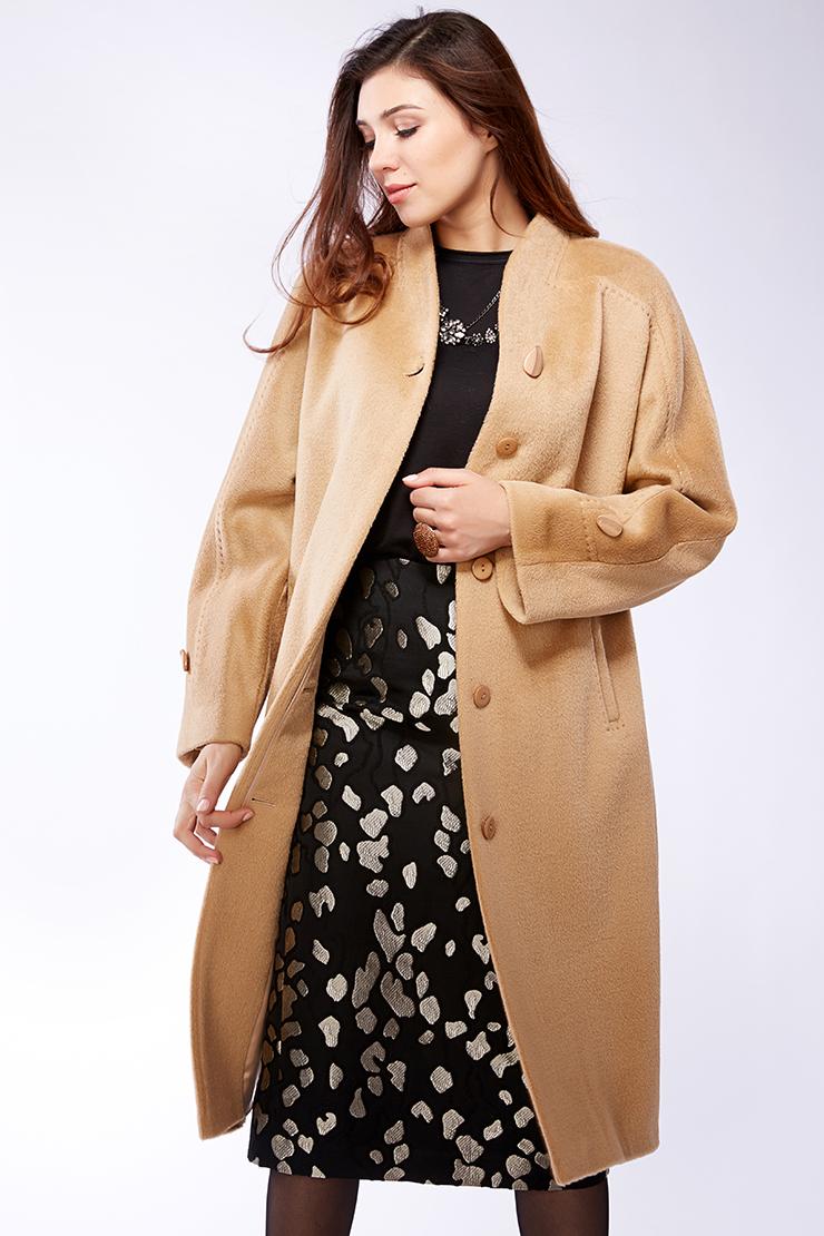 Женское пальто из альпака российского производства. Производитель: Leoni Bourget, артикул: 21924