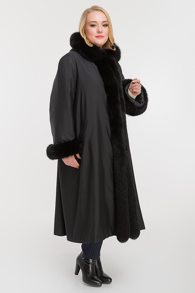 Женское пальто на меху для зимы на большой размер фото