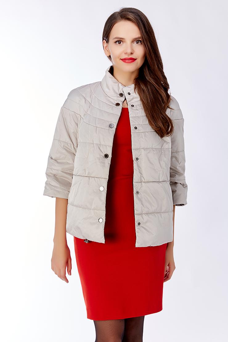 Весенняя женская куртка стеганаяКуртки<br>Весенняя женская куртка стеганая<br>Цвет: молочный; Размер: 52; Состав: 100% п/э; подкладка 100% п/э; утеплитель - изософт; Материал: 100% п/э; подкладка 100% п/э; утеплитель - изософт;