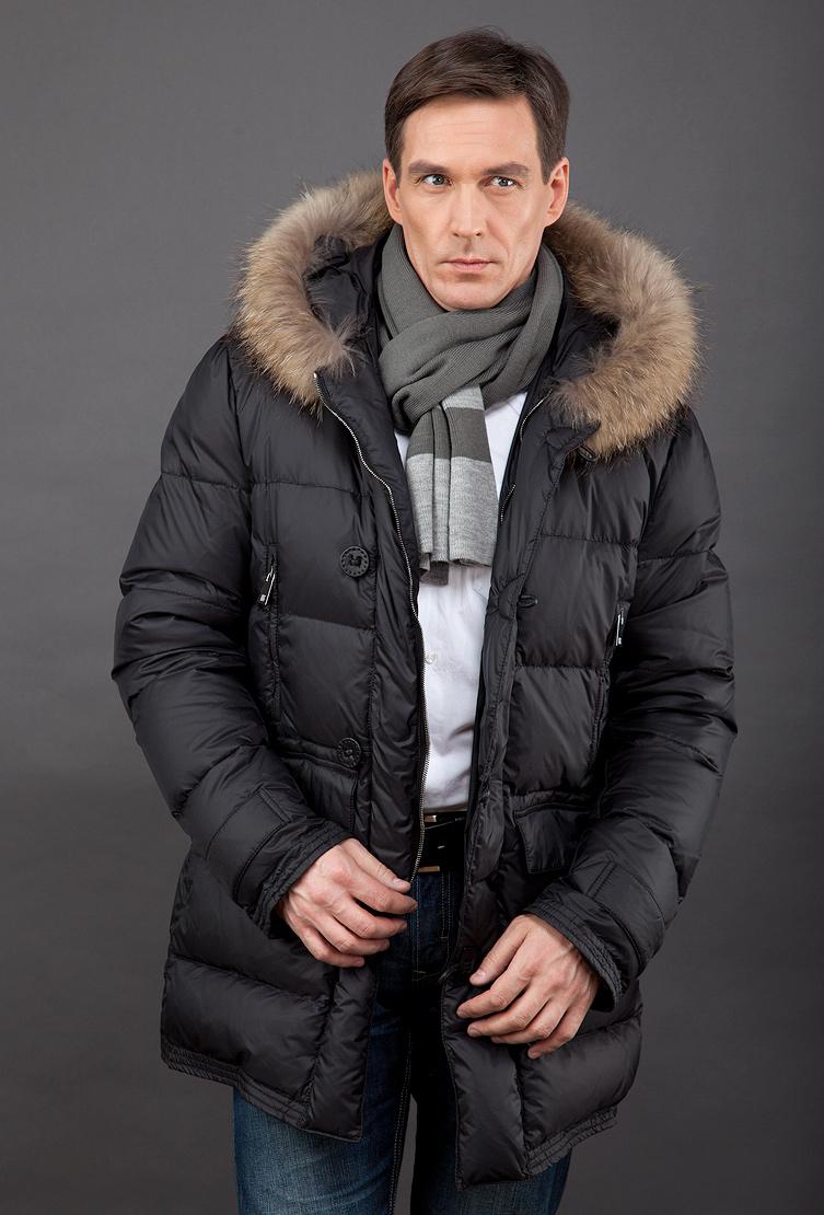 d3b157e1239bb Зимний мужской пуховик из Италии с мехом енота | Верхняя одежда ...
