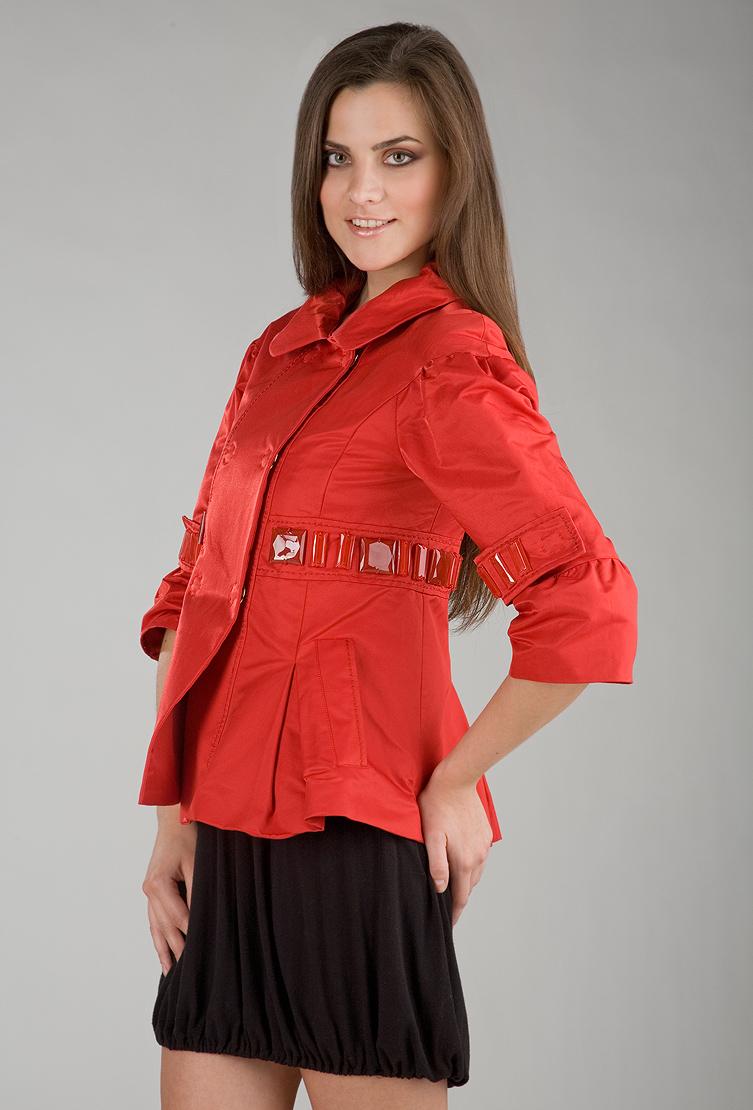 Укороченная куртка FOCE FLO/F16-красный