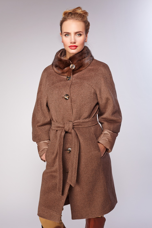 Купить со скидкой Шерстяное пальто для зимы средней длины