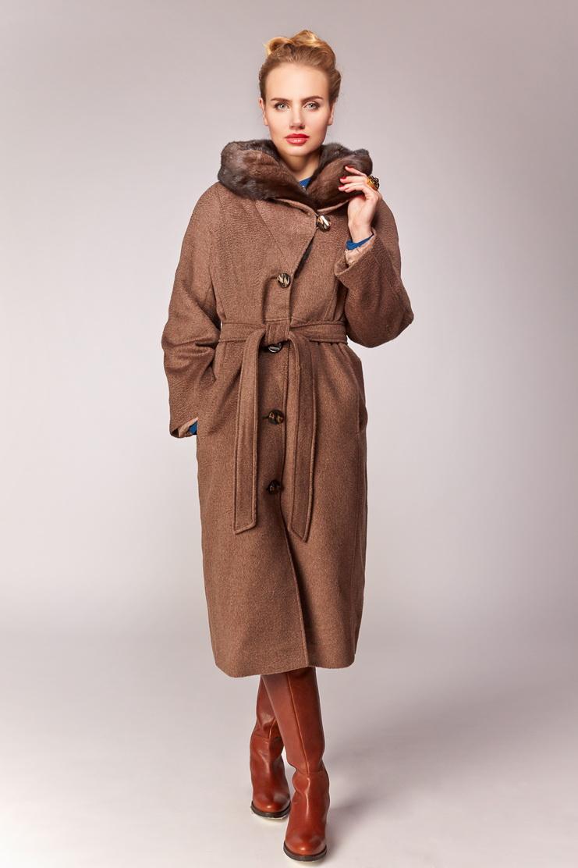 Пальто из шерсти Garioldi G439/3114-коричневый