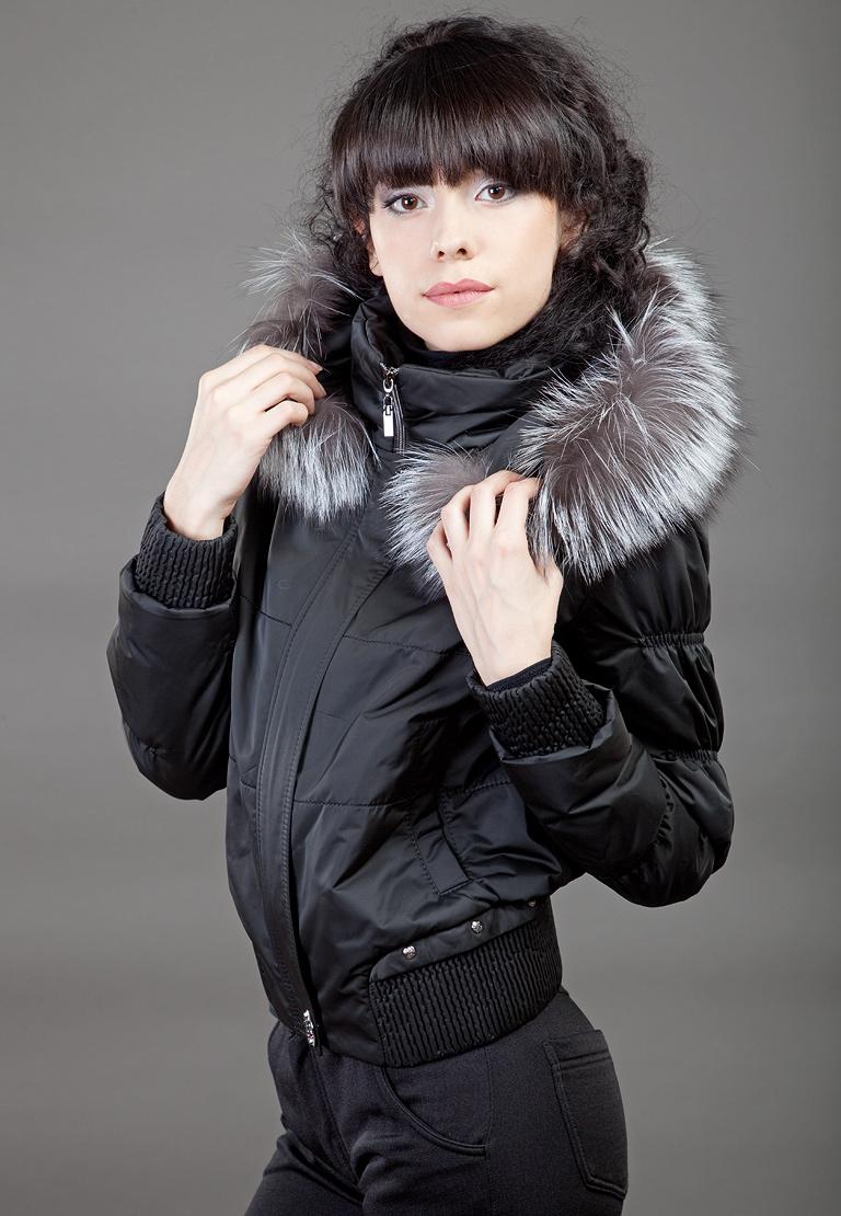 Черная женская куртка Garioldi с чернобуркой