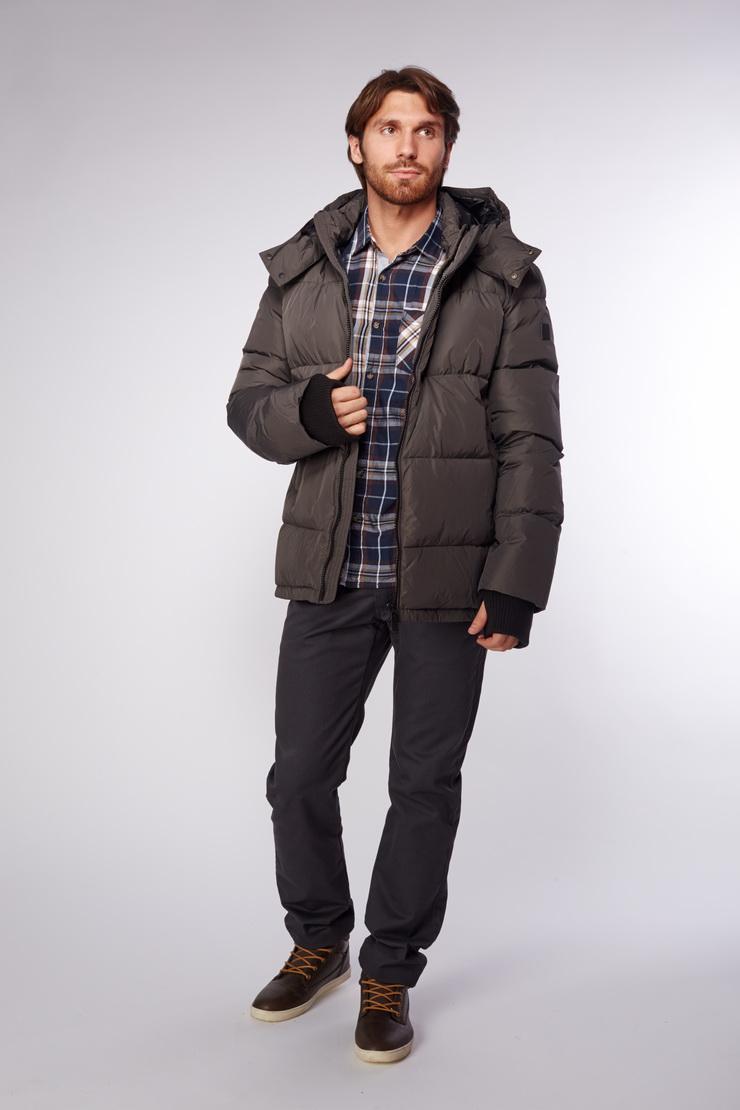 Купить со скидкой Зимняя мужская куртка цвета хаки от ADD