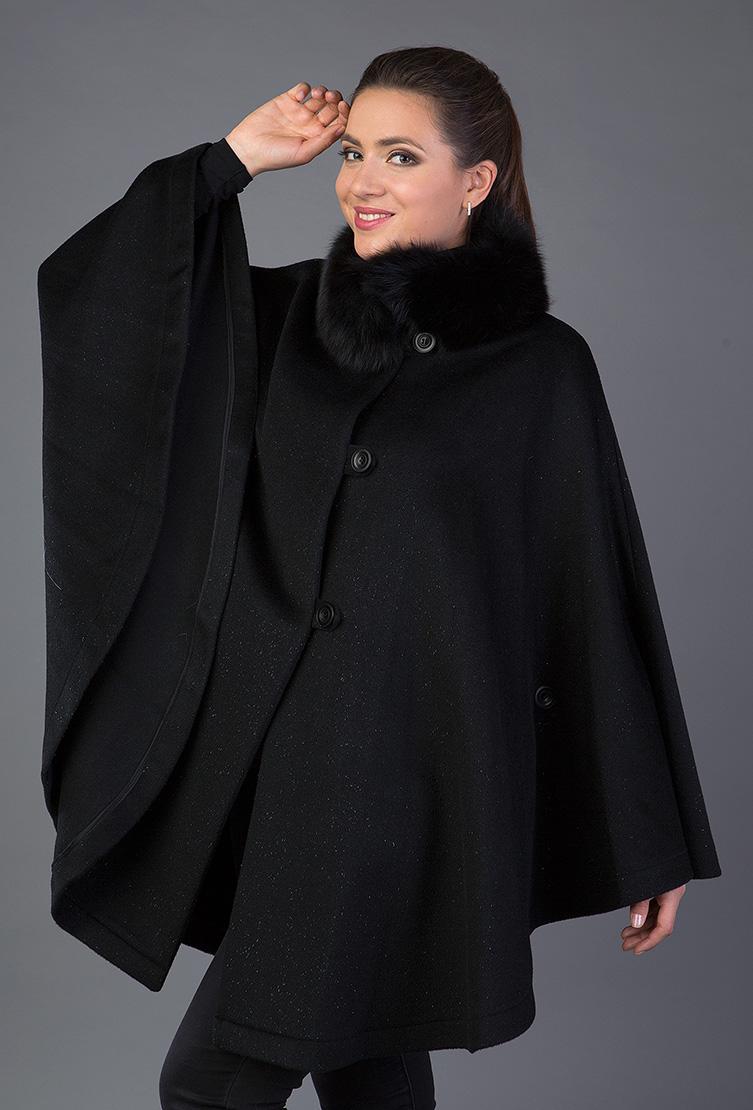 Женское пальто из альпака с меховым воротникомПальто<br>Женское пальто из альпака с меховым воротником<br>Цвет: черный; Размер: 46; Состав: 75% альпака, 25% шерсть, мех - лиса, подкладка - 100% вискоза; Материал: 75% альпака, 25% шерсть, мех - лиса, подкладка - 100% вискоза;