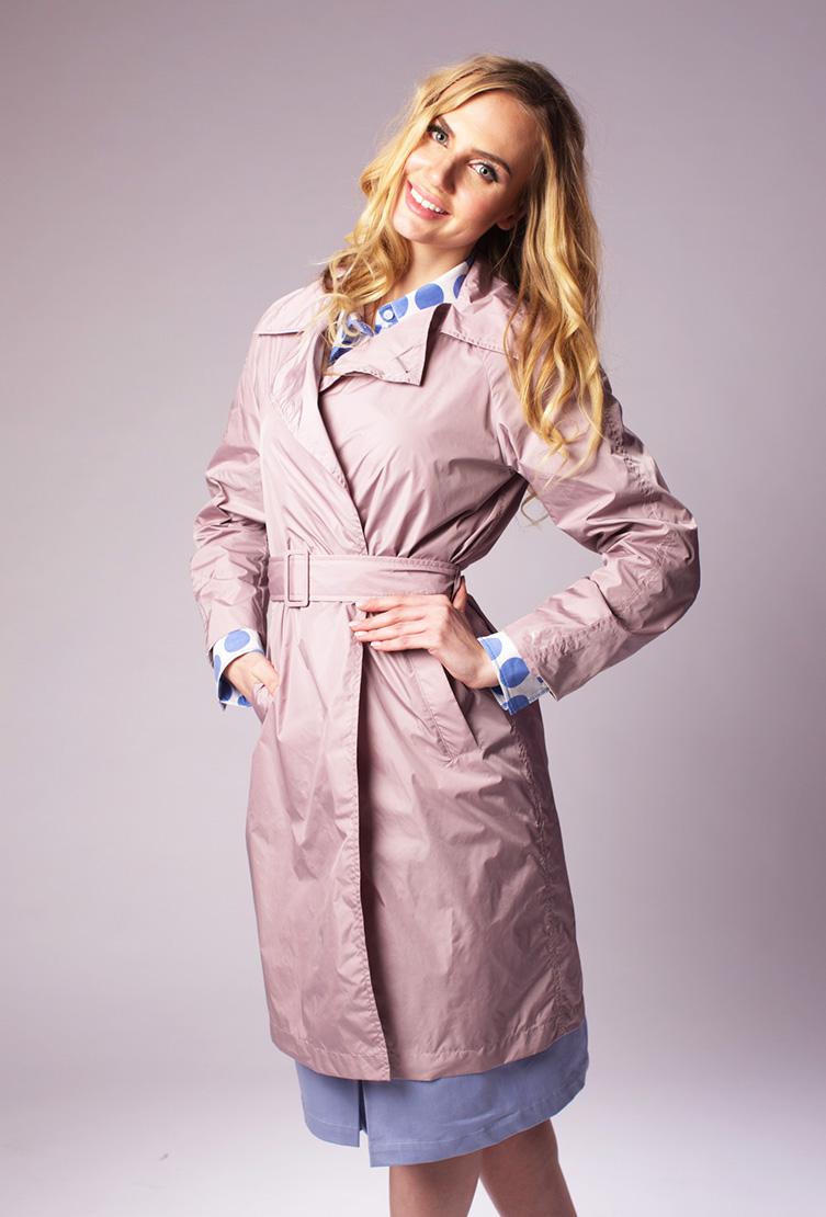 Классический женский тренч розового цвета ADD HAW032/A17-розовый