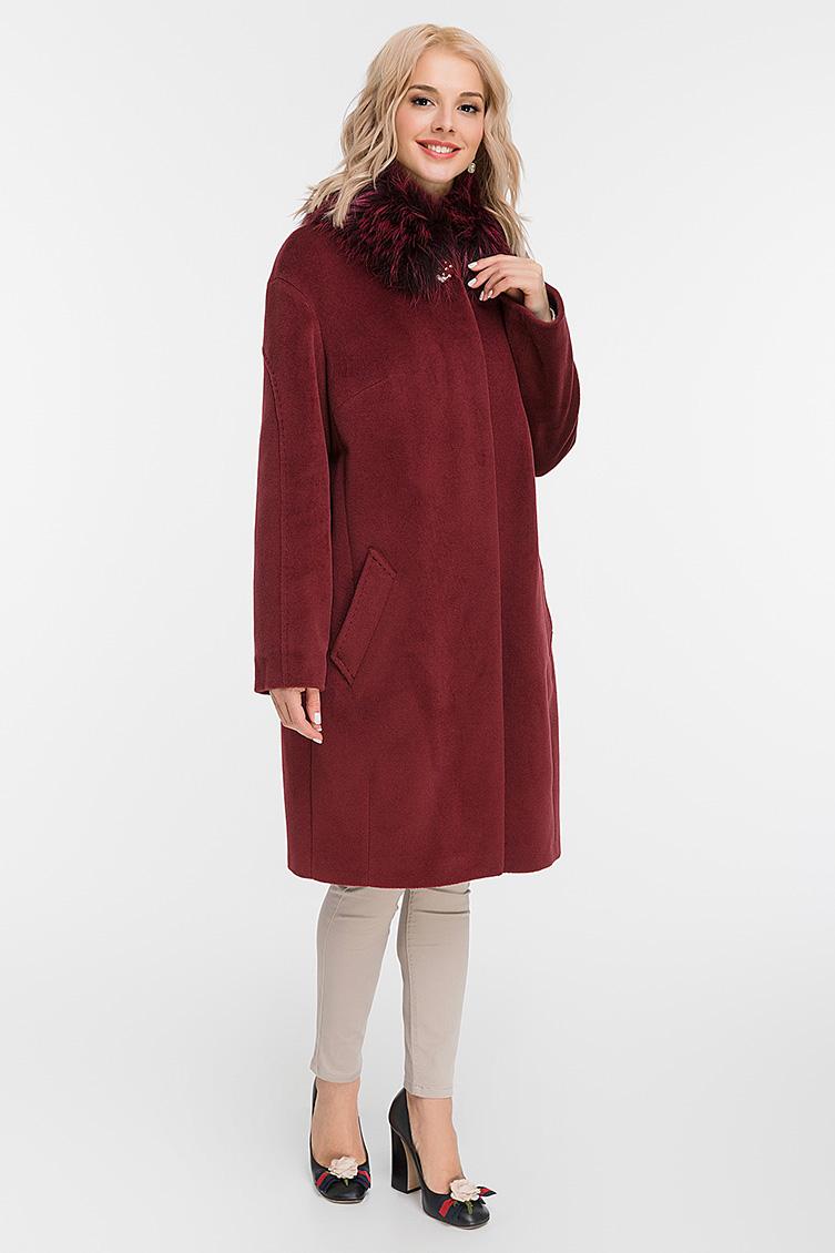 Утепленное женское пальто осень-зима с мехом фото