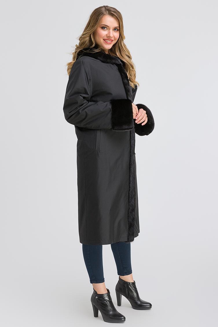 Шведское двустороннее пальто на меху фото