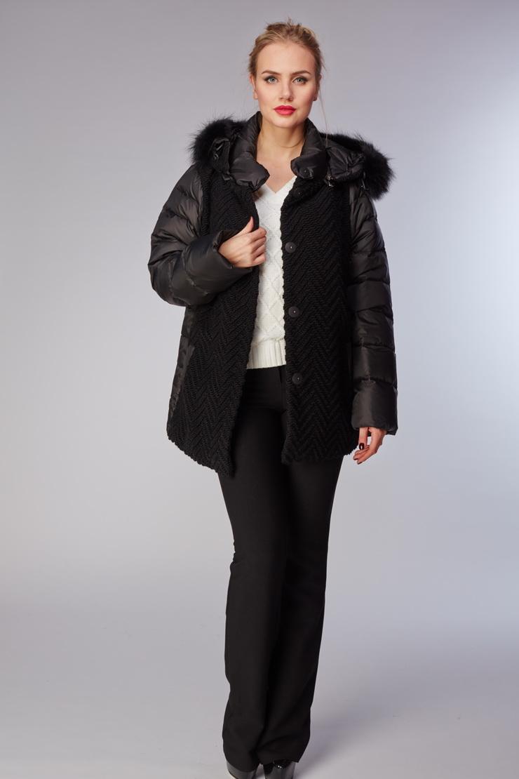 Комбинированная облегченная куртка утепленная пухом фото