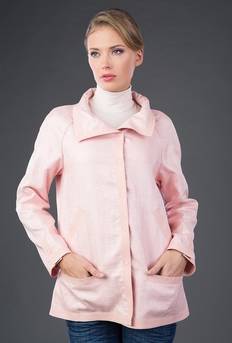 Женская ветровка прямого фасонаКуртки<br>Женская ветровка прямого фасона<br>Цвет: светло-розовый; Размер: 46; Состав: 57% полиамид, 43% хлопок; подкладка - 100% полиамид; Материал: 57% полиамид, 43% хлопок; подкладка - 100% полиамид;