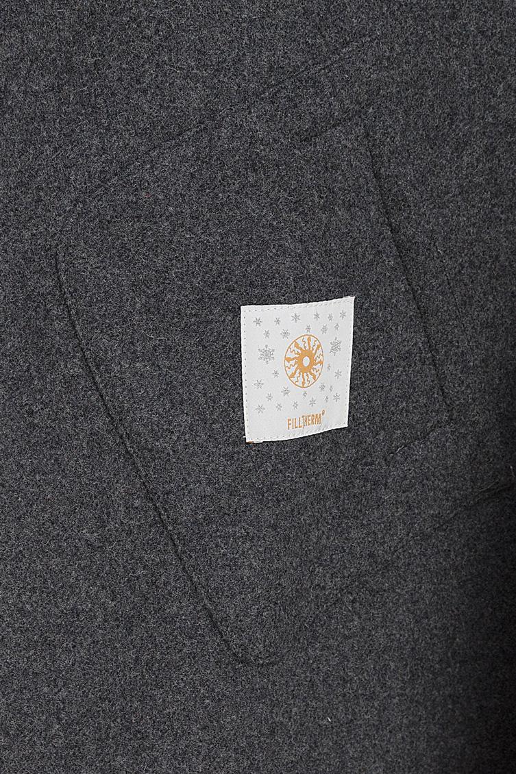 Комбинированое демисезонное пальто Visconf/Violanti с накладными карманами KEI81E/6600-бежевый