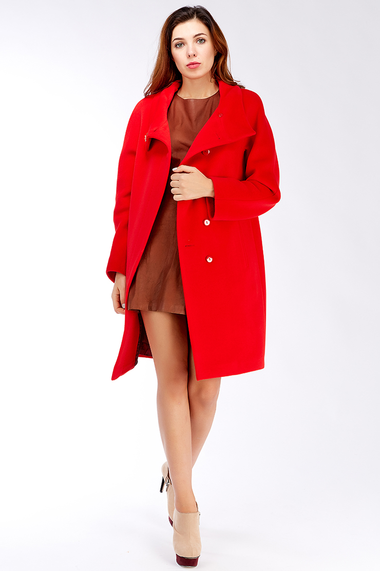 Пальто реглан средней длины из ангоры, Elisabetta