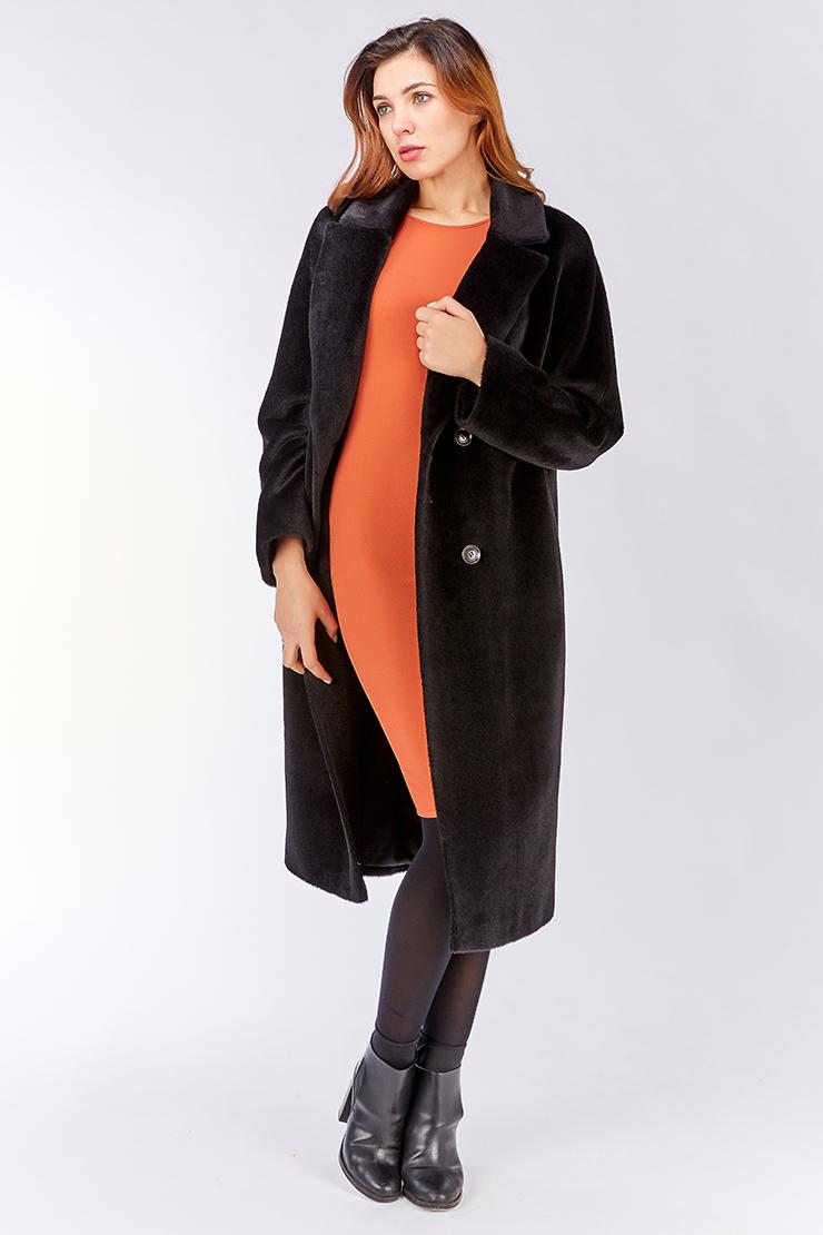 Длинное классическое пальто из альпакаПальто<br>Длинное классическое пальто из альпака<br>Цвет: черный; Размер: 48, 50, 58; Состав: 35% - сури, 35% - беби альпака, 30% - шерсть; подкладка - 55% вискоза, 45% п/э; Материал: 35% - сури, 35% - беби альпака, 30% - шерсть; подкладка - 55% вискоза, 45% п/э;