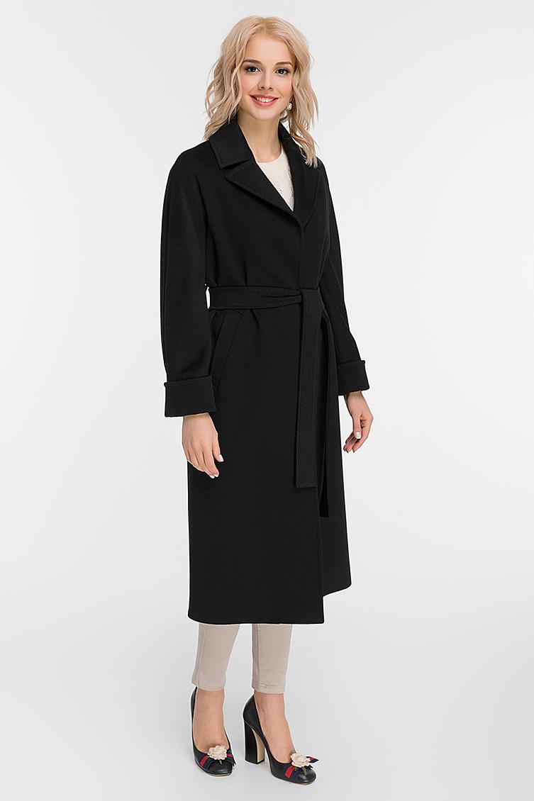 Черное женское пальто Heresis с рукавами-реглан M11/H01-черный