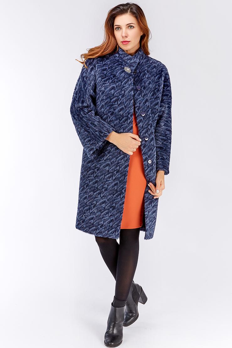 Синее весеннее пальто со стильным принтом. Производитель: de Marse, артикул: 23650