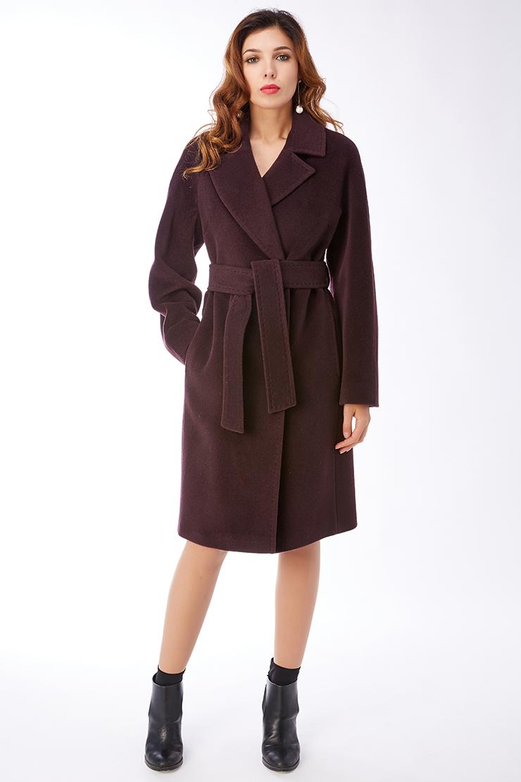 Женское пальто из шерсти с английским воротником