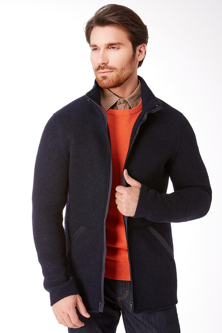 Мужская шерстяная куртка на молнии. Производитель: Vittorio Emmanule, артикул: 24701