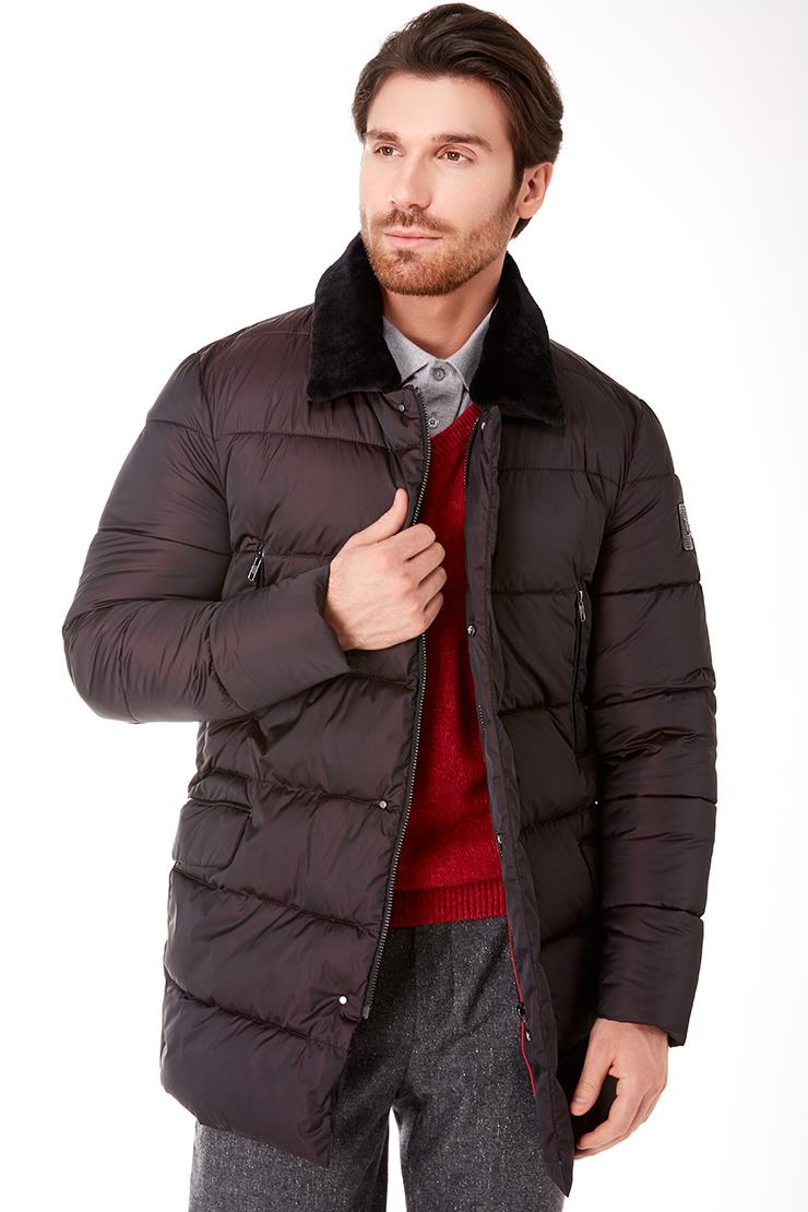 Длинная куртка российского производства для мужчин Vittorio Emmanule M1916/R10-бордовый