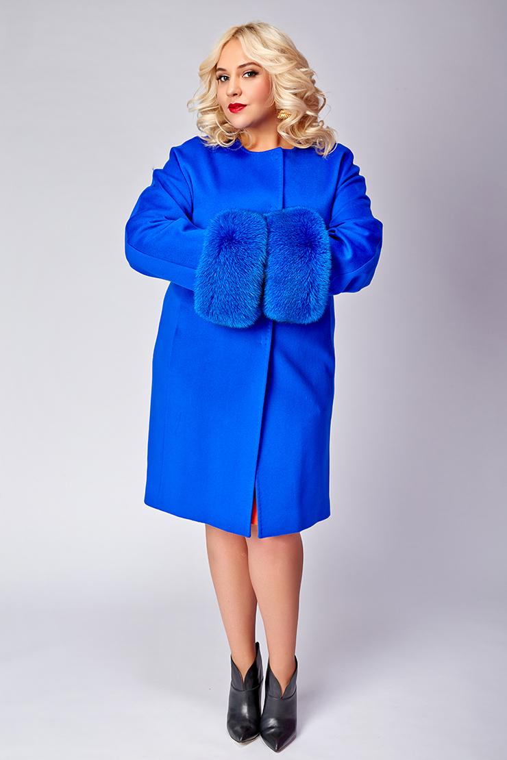 Зимнее модное пальто большие размеры