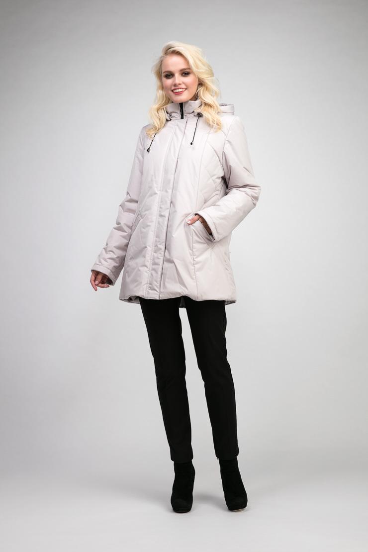 Женская куртка на весну с капюшономКуртки<br>Женская куртка на весну с капюшоном<br>Цвет: слон кость; Размер: 48; Состав: 100% п/э; подкладка - 100% п/э; утеплитель - изософт; Материал: 100% п/э; подкладка - 100% п/э; утеплитель - изософт;