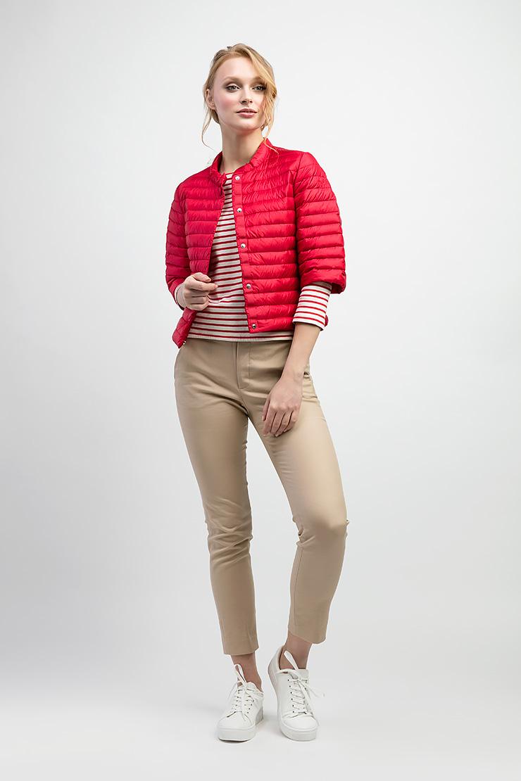Женская куртка укороченного фасона ADD с рукавом 3/4 фото