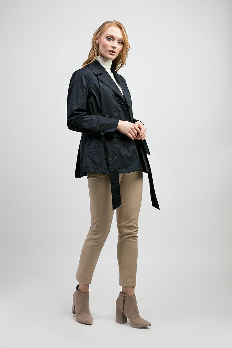 Приталенная женская куртка с пуховым утеплителем ADD NAW735/A43-темно-синий