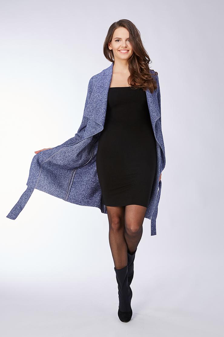 Лёгкое женское молодежное пальто из шерстиПальто<br>Лёгкое женское молодежное пальто из шерсти<br>Цвет: синий; Размер: 46, 48, 50; Состав: 100% шерсть; Материал: 100% шерсть;