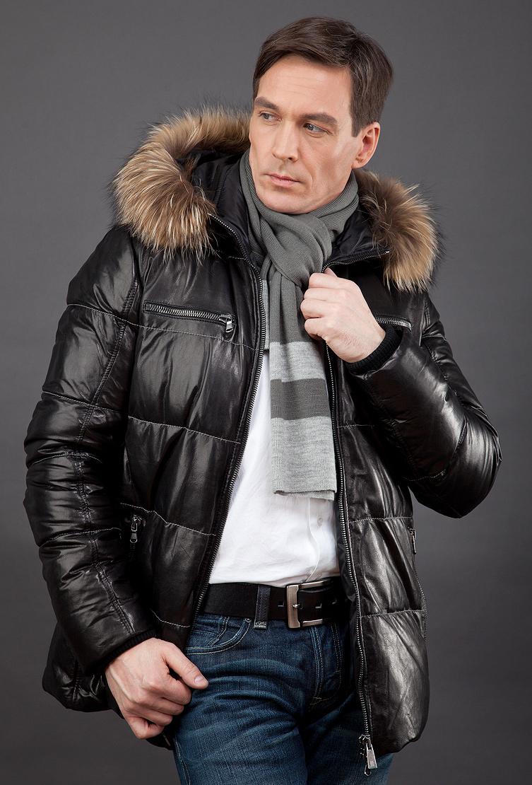 Купить со скидкой Удлиненная демисезонная кожаная куртка AFG на синтепоне