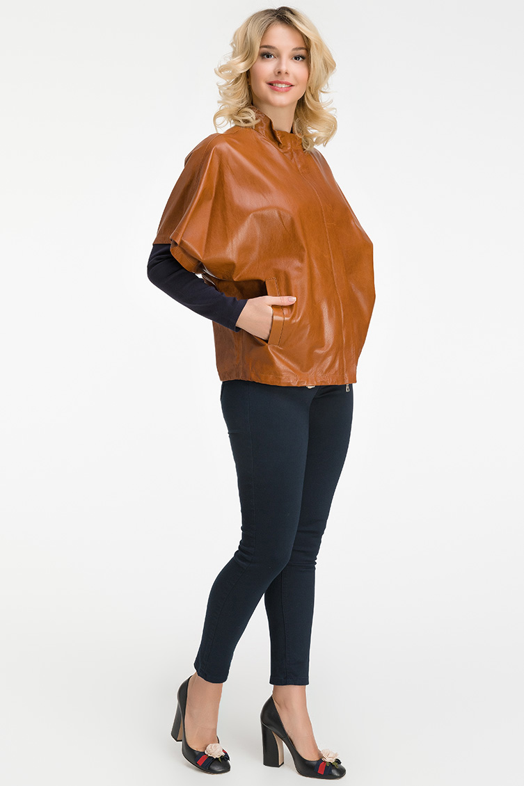 Кожаная куртка AFG с коротким рукавом. Производитель: AFG, артикул: 21000