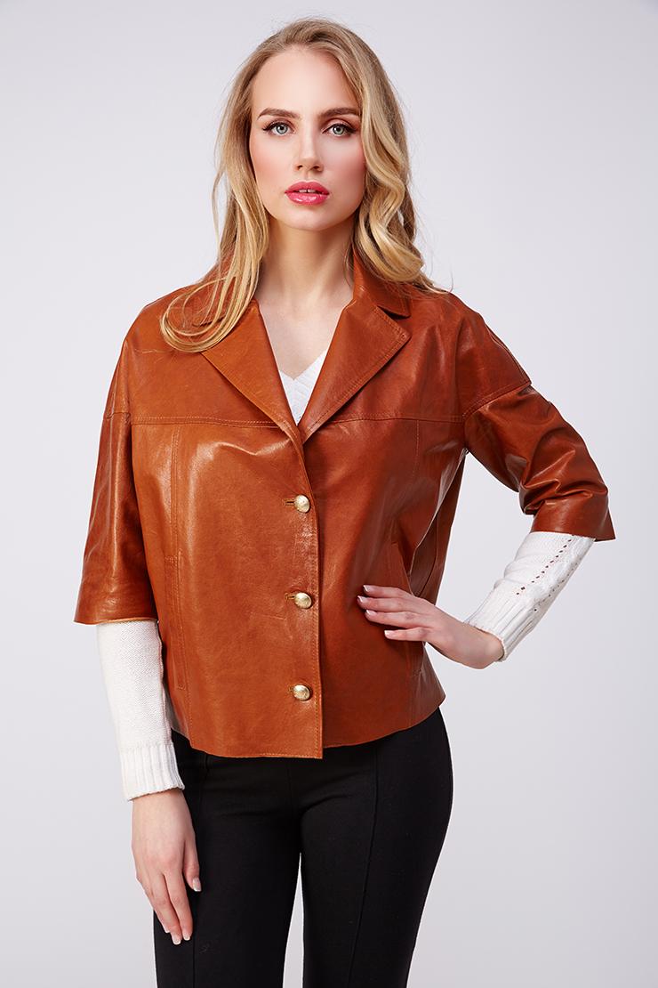 Женская куртка  AFG из натуральной кожи. Производитель: AFG, артикул: 20993