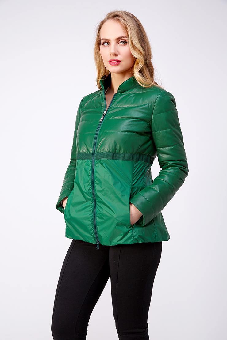 Приталенная комбинированная куртка AFG на молнии. Производитель: AFG, артикул: 21020