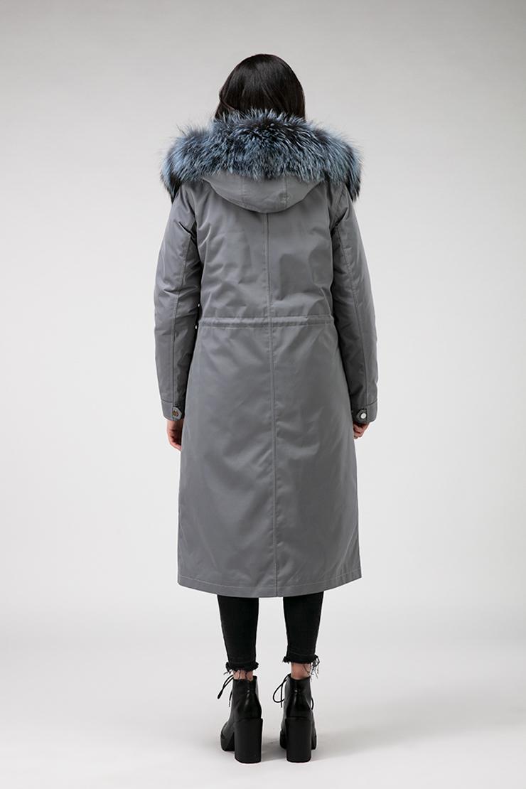 Длинное демисезонное пальто на верблюжьей шерсти с чернобуркой фото