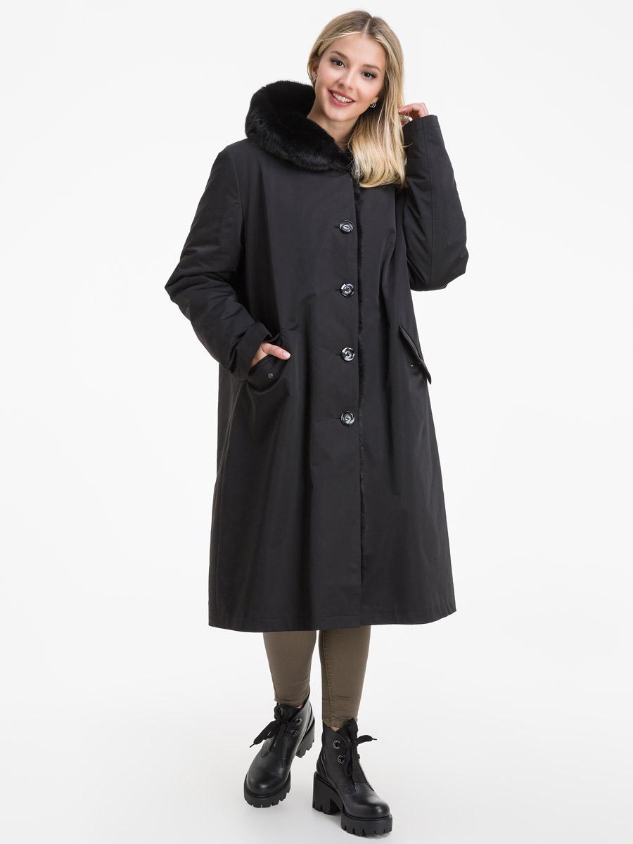 Длинное пальто на кролике для зимы из Италии фото