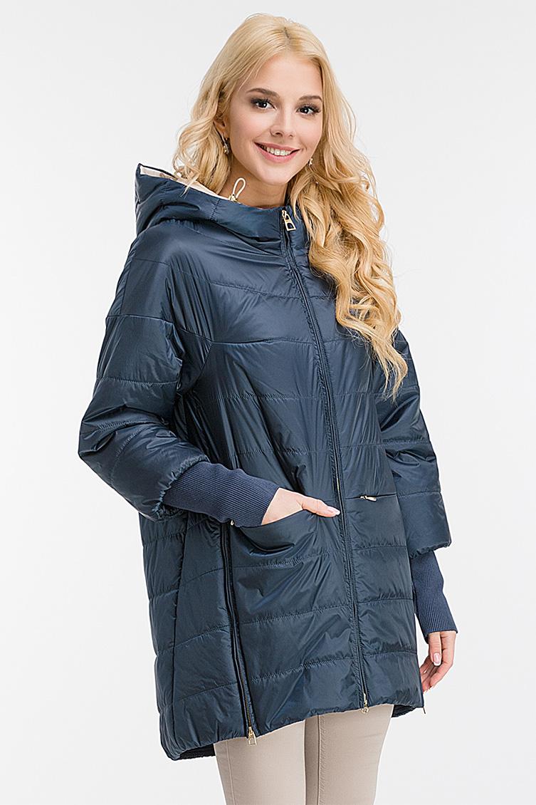 Длинная утепленная женская куртка с капюшоном фото