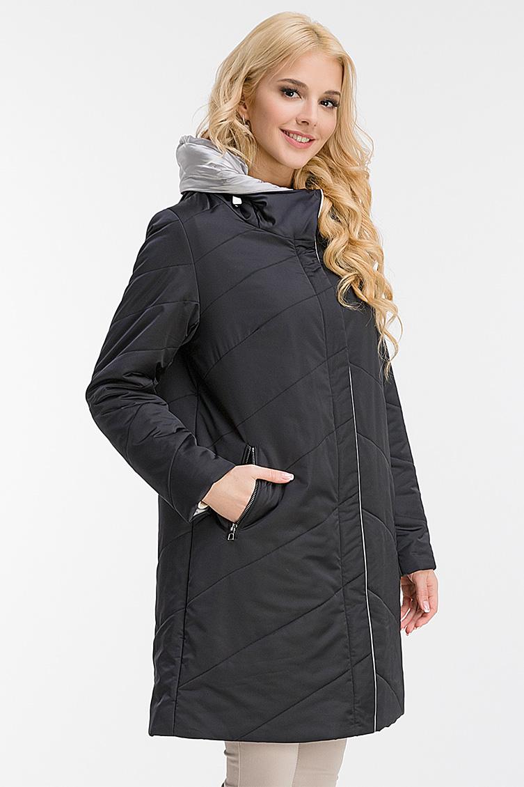 Утепленное пальто на тинсулейте с капюшоном фото