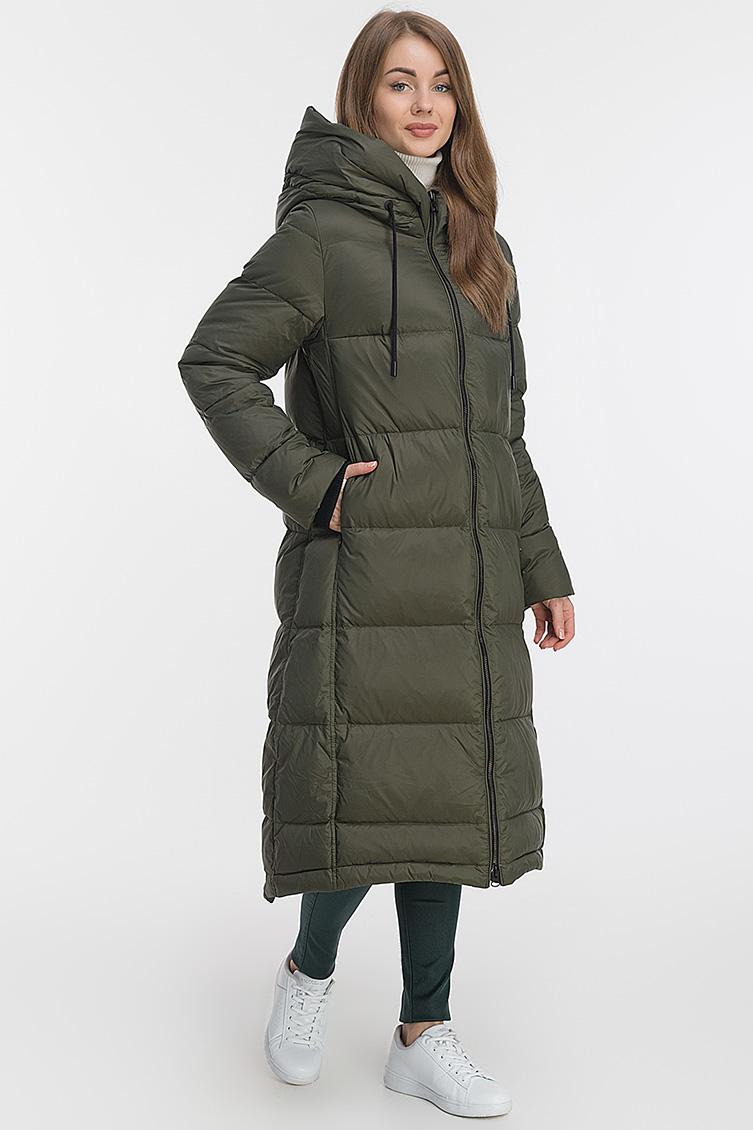 Итальянское длинное классическое пуховое пальто фото