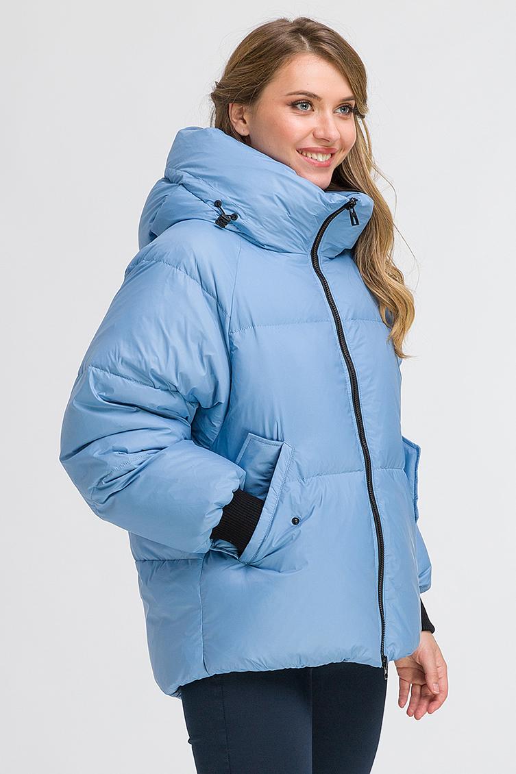 Молодежная объемная куртка на пуху из Италии фото