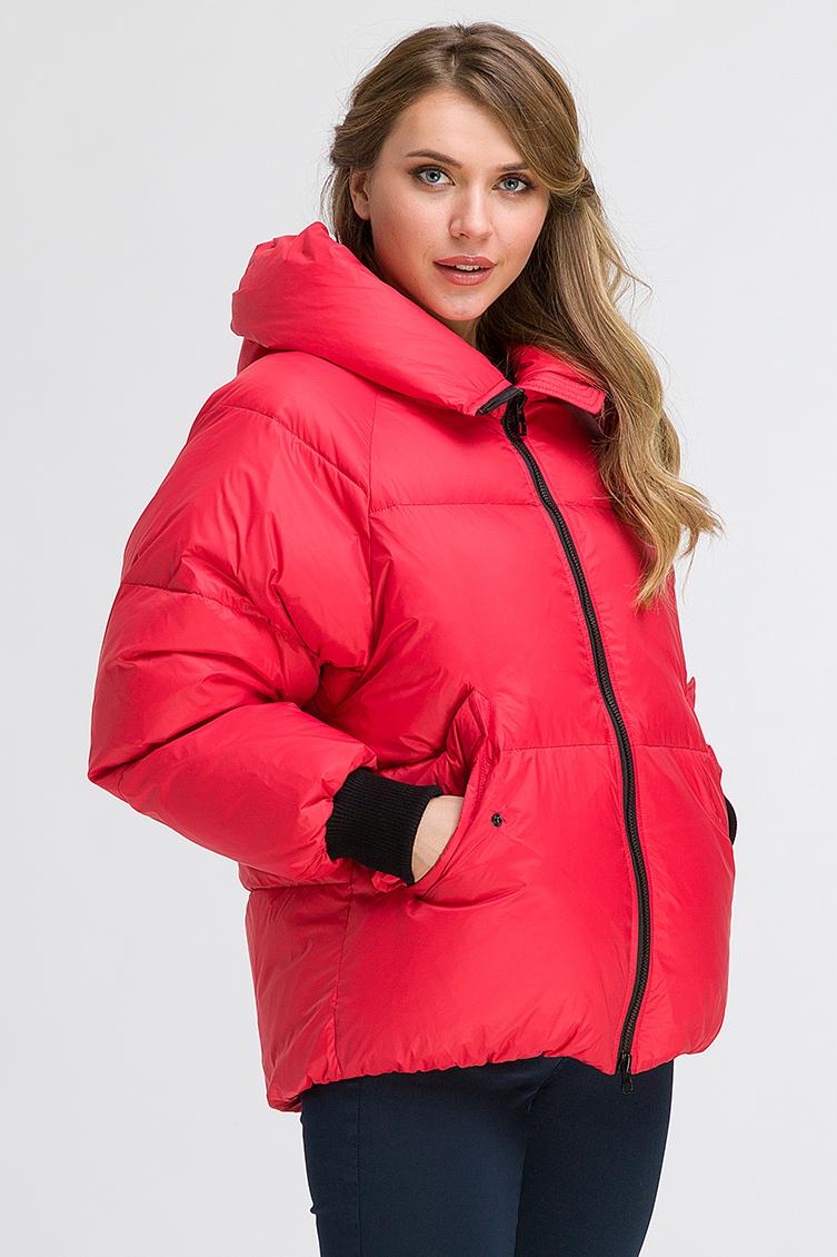 Куртка на пуху для зимы с капюшоном фото