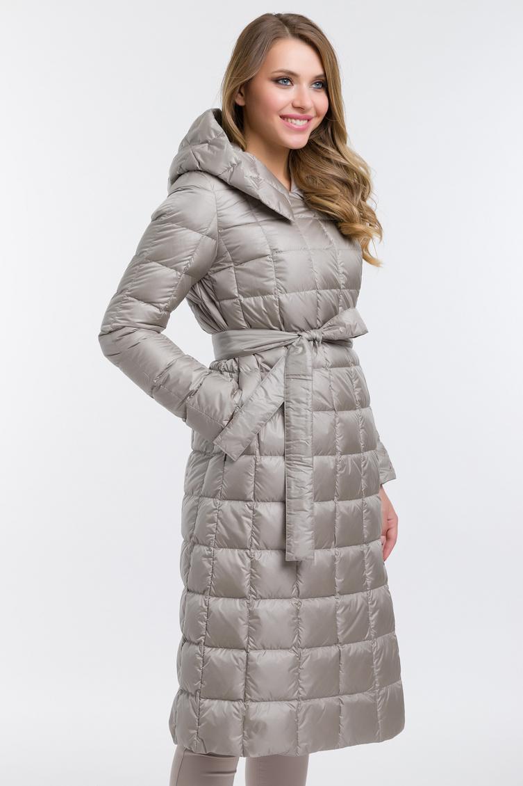 Расклешенное пуховое пальто финского производства