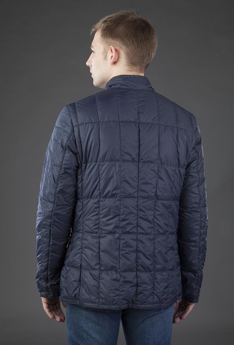Облегченная мужская куртка на пуху AFG синего цвета T9788/L11-синий